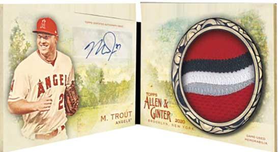 2020 Topps Allen & Ginter Baseball Autograph Relic Book Card