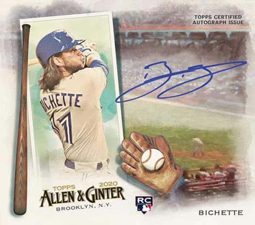 2020 Topps Allen & Ginter Baseball Boxloader Autographs