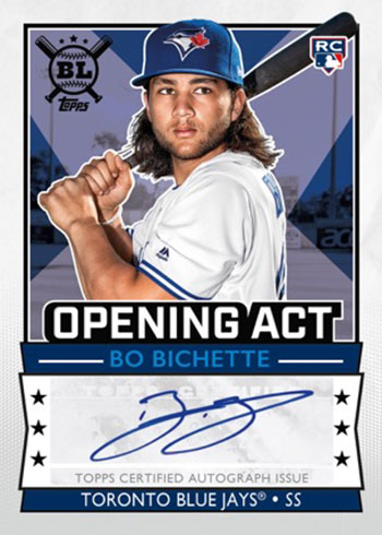 2020 Topps Big League Baseball Opening Act Autographs