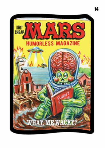 2020 Topps Mars Attacks Wacky Packages Series 3 Mars Magazine