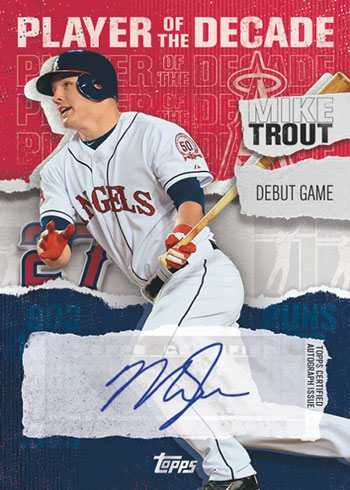 2020 Topps Series 2 Baseball Player of the Decade Mike Trout Autograph