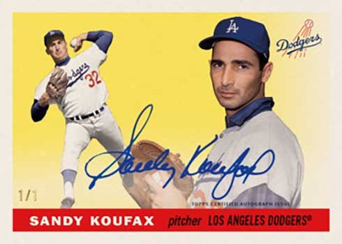 2020 Topps Transcendent Hall of Fame Baseball Sandy Koufax Through the Years Autographs