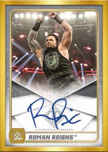 2020 Topps WWE Transcendent Roman Reigns Autograph