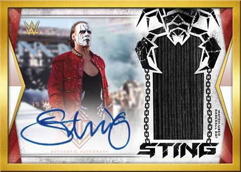 2020 Topps WWE Transcendent Autograph Relic Sting