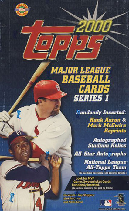 2000 Topps Series 1 Baseball HTA Box