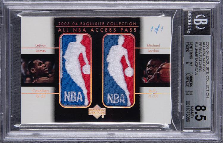 2003-04 Upper Deck Exquisite Collection Michael Jordan LeBron James Dual Logoman