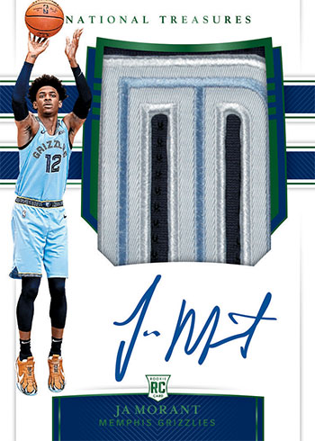 2019-20 Panini National Treasures Basketball Rookie Patch Autographs Emerald