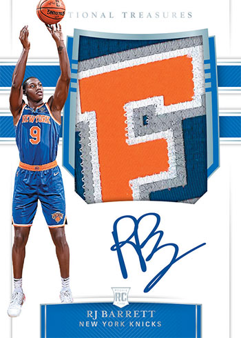 2019-20 Panini National Treasures Basketball Rookie Patch Autographs