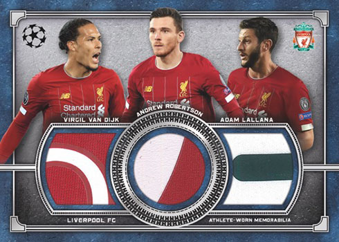 2019-20 Topps Museum Collection UEFA Triple-Player Primary Pieces