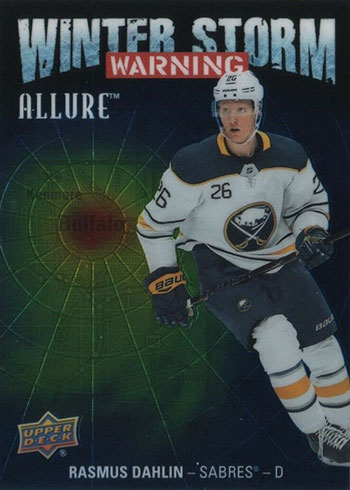 2019-20 Upper Deck Allure Hockey Winter Storm Warning Rasmus Dahlin