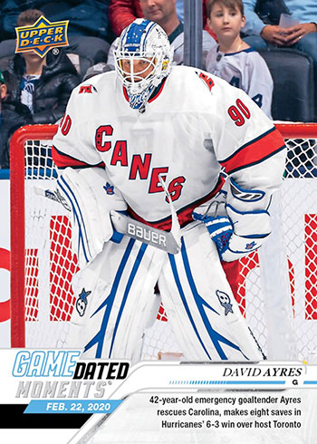 2019-20 Upper Deck Game Dated Moments David Ayres