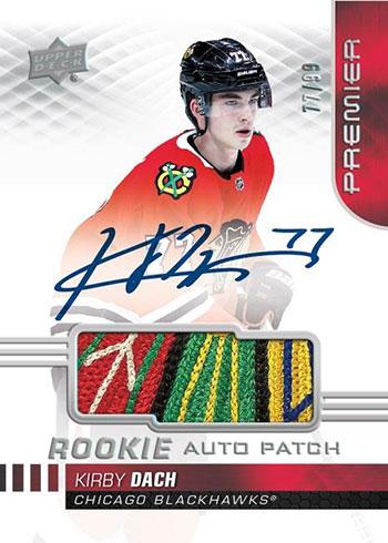 2019-20 Upper Deck Premier Hockey Acetate Rookie Patch Autograph