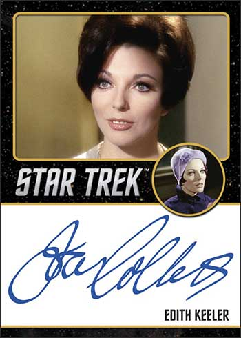 2020 Rittenhouse Star Trek Archives and Inscriptions Joan Collins Autograph Black