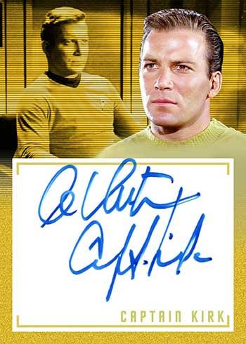 2020 Rittenhouse Star Trek Archives and Inscriptions William Shatner Inscription Autograph