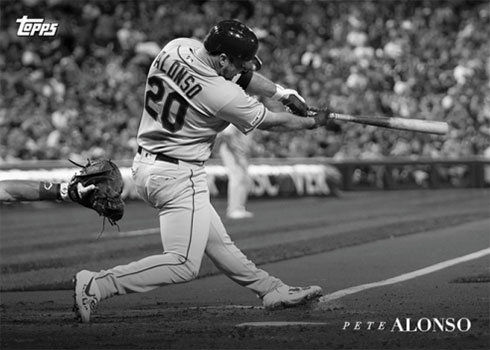2020 Topps Black and White Baseball Pete Alonso