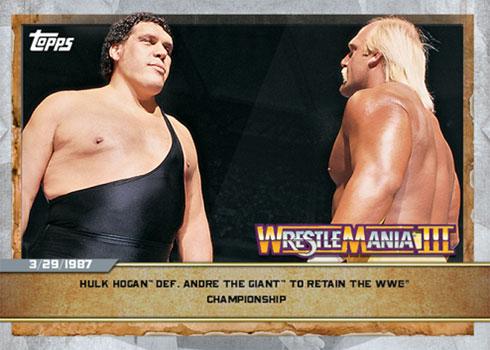 2020 Topps Countdown to WrestleMania 1