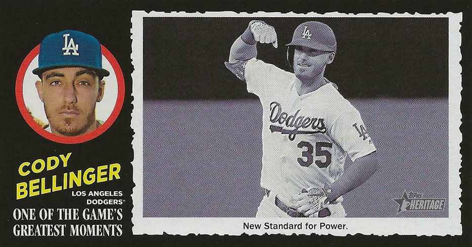 2020 Topps Heritage Baseball 1971 Greatest Moments Cody Bellinger