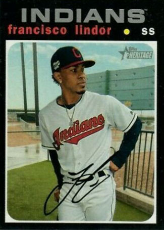 2020 Topps Heritage Baseball Variations Francisco Lindor Silver Team Name