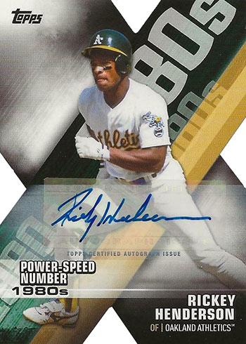 2020 Topps Series 1 Baseball Decade of Dominace Autographs Rickey Henderson