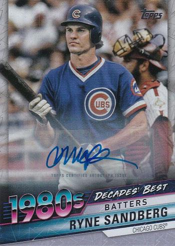 2020 Topps Series 1 Baseball Decades' Best Autographs Ryne Sandberg