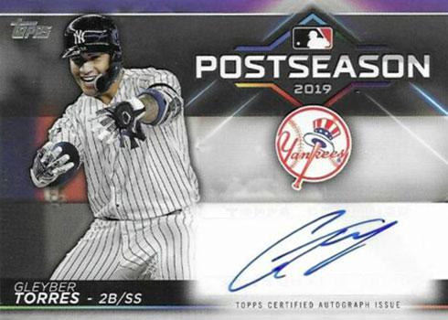 2020 Topps Series 1 Baseball Postseason Performance Autographs Gleyber Torres