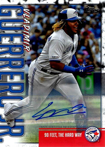 2020 Topps Series 1 Baseball Vladimir Guerrero Jr. Highlights Autographs