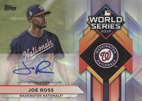 2020 Topps Series 1 Baseball World Series Champions Autographs Joe Ross