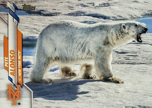2020 Topps Series 1 Baseball Variations Pete Alonso Polar Bear