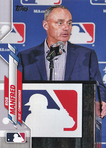 2020 Topps Series 1 Variations Rob Manfred