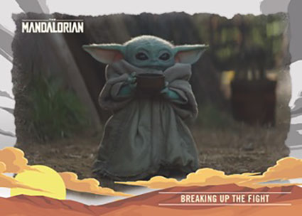 2020 Topps The Mandalorian: Journey of The Child Breaking Up the Fight