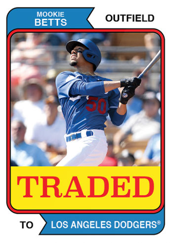 2020 Topps Throwback Thursday Baseball Mookie Betts