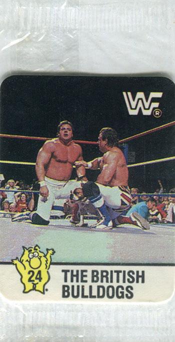 1988 Hostess WrestleMania IV Stickers 24 British Bulldogs