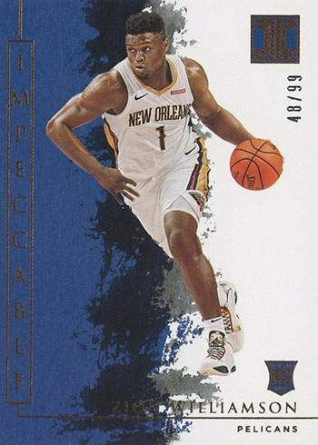 2019-20 Panini Impeccable Zion Williamson Rookie Card