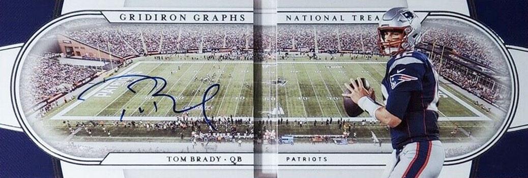 2019 Panini National Treasures Football Gridiron Graphs Tom Brady