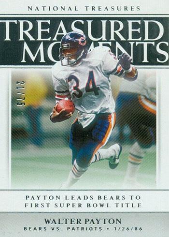 2019 Panini National Treasures Football Treasured Moments Walter Payton