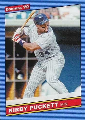 2020 Donruss Baseball Retro 1986 Kirby Puckett