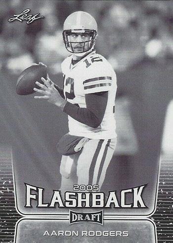 2020 Leaf Draft Football Aaron Rodgers Flashback