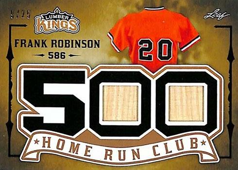 2020 Leaf Lumber Kings Baseball 500 Home Run Club Frank Robinson