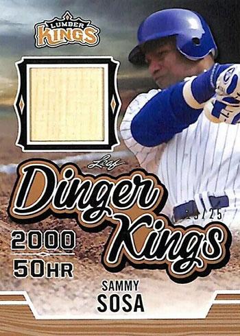 2020 Leaf Lumber Kings Baseball Dinger Kings Sammy Sosa