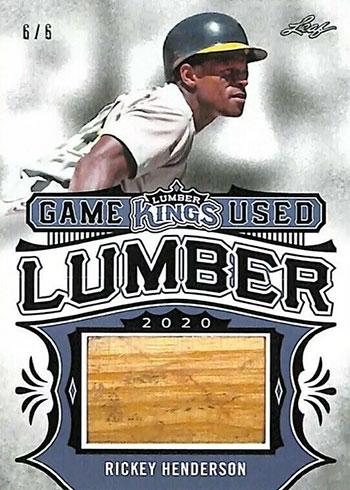 2020 Leaf Lumber Kings Baseball Game Used Lumber Rickey Henderson