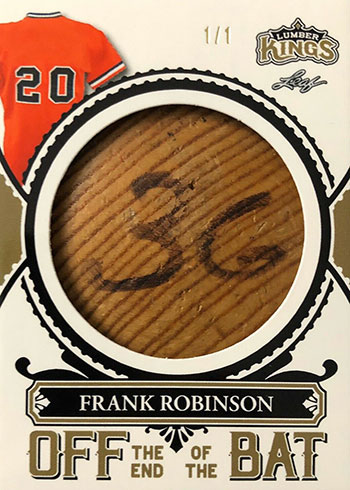 2020 Leaf Lumber Kings Baseball Off the End of the Bat Frank Robinson