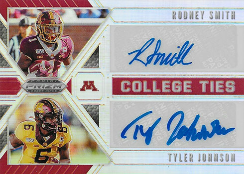2020 Panini Prizm Draft Picks Football College Ties Autographs
