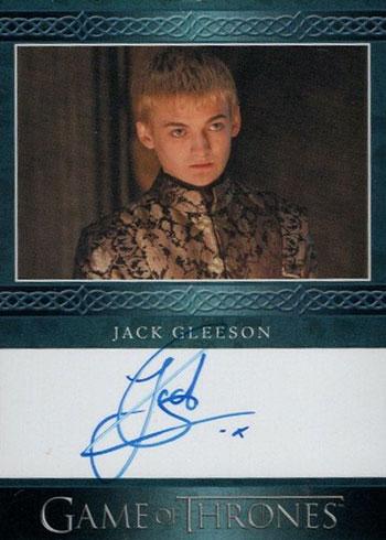 2020 Rittenhouse Game of Thrones Season 8 Blue Autographs Jack Gleeson