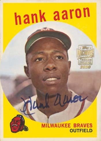 2020 Topps Archives Signature Series Baseball Retired Player Edition Hank Aaron