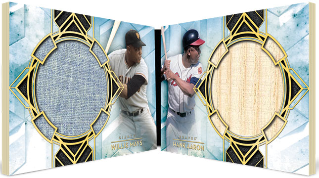 2020 Topps Diamond Icons Baseball Dual-Player Dual Relic Book Cards