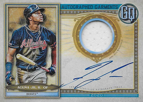 2020 Topps Gypsy Queen Baseball Autographed Garments Ronald Acuna Jr.