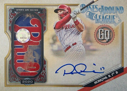 2020 Topps Gypsy Queen Baseball Bases Around the League Rhys Hoskins