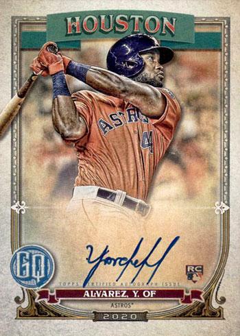 2020 Topps Gypsy Queen Baseball Yordan Alvarez Autograph