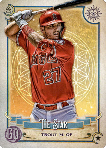 2020 Topps Gypsy Queen Baseball Tarot of the Diamond Mike Trout