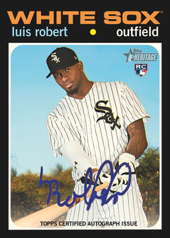 2020 Topps Heritage High Number Baseball Real One Autographs